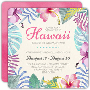 Summer Hawaii Getaway Invitation