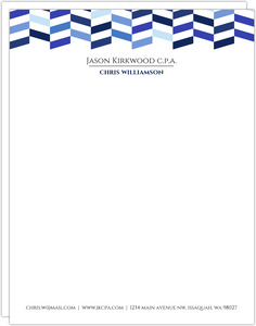 Shades of Blue Chevron Business Letterhead