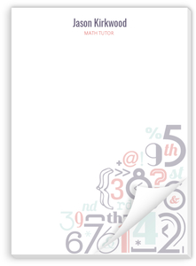 Number Pattern Custom Notepad