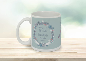 Floral Feather Encouragement Coffee Mug
