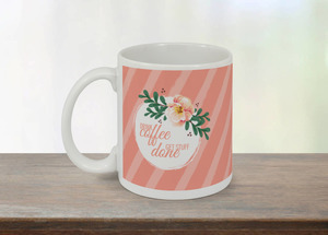 Coral Drink Coffee Mug