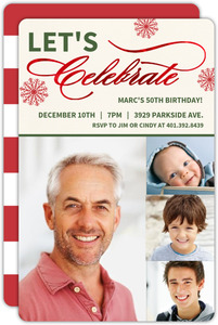 Photo Timeline Holiday Birthday Invitation