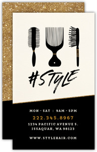 Style Hair Shop Custom Business Card