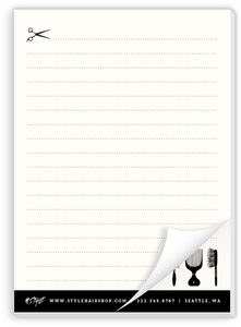 Style Hair Shop Custom Business Notepad