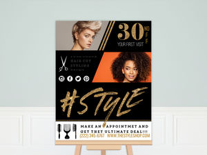 Style Hair Shop Custom Business Poster