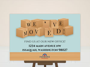Moving Boxes Business Moving Poster