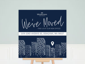 Gradient Office Buildings Business Moving Poster