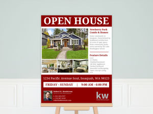 Estate Photo Open House Business Poster