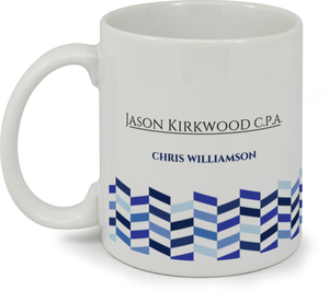 Shades of Blue Chevron Custom Mug