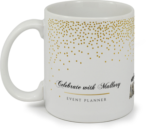 Faux Gold Party Confetti Custom Mug