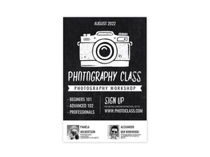 Photography Workshop Custom Business Poster