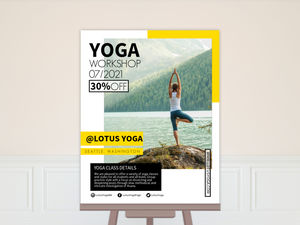 Yoga Class Custom Business Poster