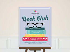 Glasses & Books Business Poster
