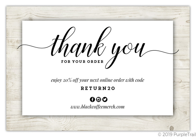 rustic wood border business thank you card  business