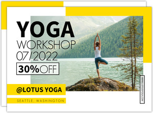 Yoga Class Custom Business Postcard