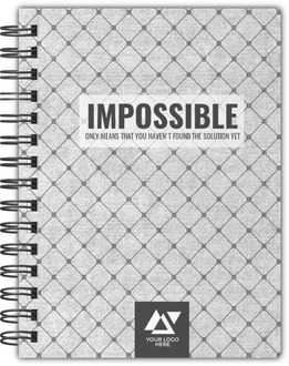 Impossible Quote Custom Business Notebook