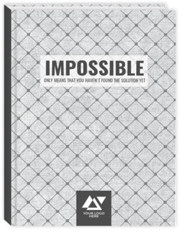 Impossible Quote Custom Business Journal