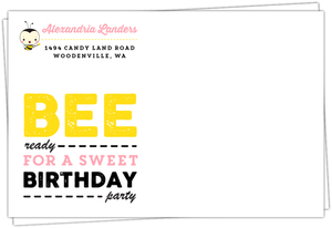 Sweet Birthday Party Envelope