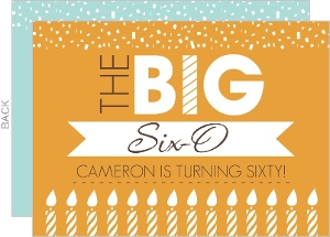 The Big 6-0 Orange Birthday Invitation