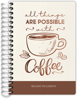 All Things Possible With Coffee Tiny Planner