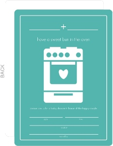 Bun in the Oven Fill In The Blank Baby Shower Invite