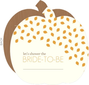 Whimsical Leaves Fill In The Blank Bridal Shower Invite