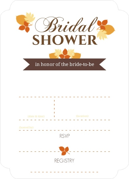 Modern fall leaves fill in the blank bridal shower invite blank modern fall leaves fill in the blank bridal shower invite filmwisefo Choice Image