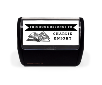 Book Banner Stamp