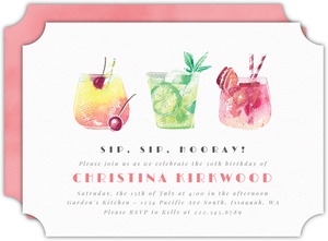 Modern Citrus Cocktail Party Invitation