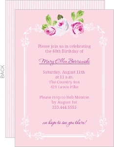 Pink Floral 60Th Birthday Invite