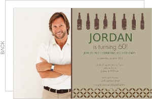Beer Bottle Sixtieth Birthday Invite
