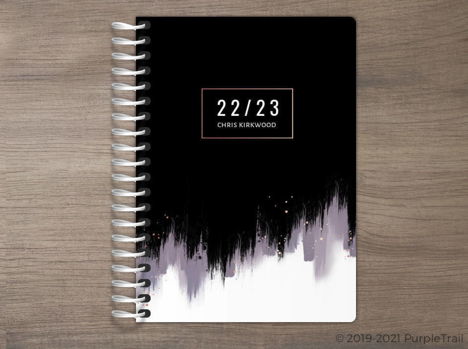 Midnight Brushstroke Tiny Planner