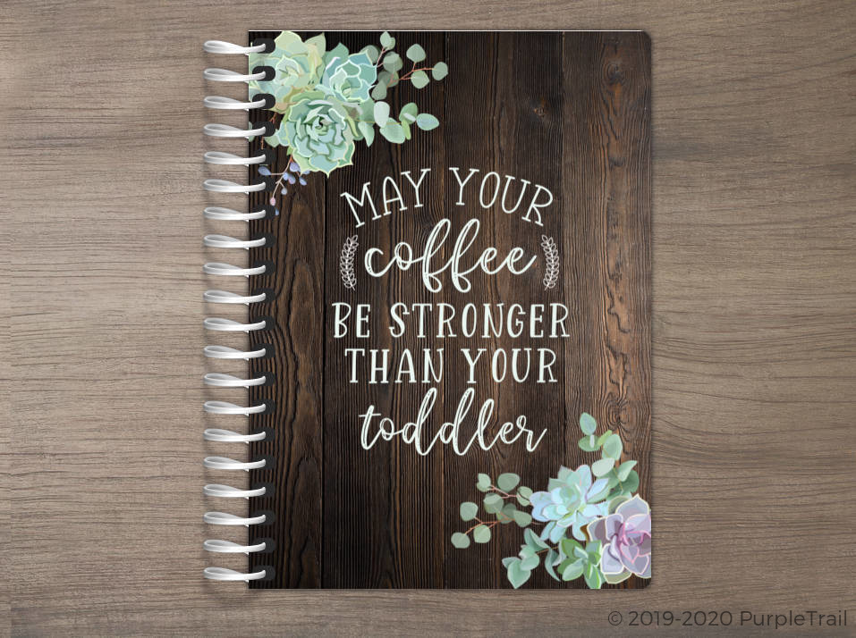 Succulent Coffee Quote Tiny Planner