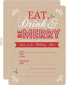 Kraft Holiday Eat Drink Be Merry Fill In The Blank Cocktail Party Invitation