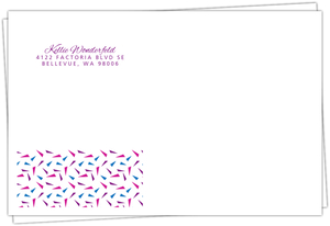 Bold Purple Photo Year Full Envelope