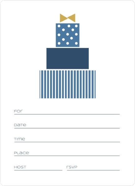 Blue Modern Birthday Fill In The Blank Invitation Blank