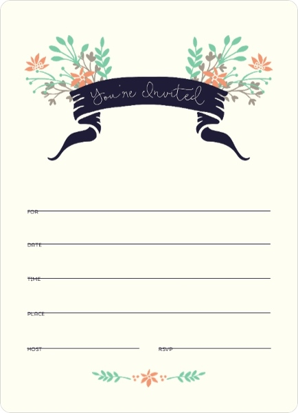 floral woodlands fill in the blank invitation blank invitations