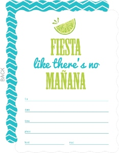 Fiesta Fun Fill In The Blank Invitation