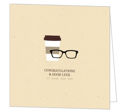 Coffee and glasses congrats good luck greeting card coffee and glasses congrats good luck greeting card m4hsunfo