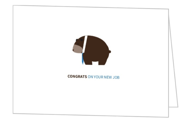 Brown bear congrats on new job greeting card brown bear congrats on new job greeting card m4hsunfo