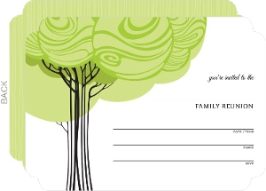 Swirly Family Tree Fill in the Blank Reunion Invitation