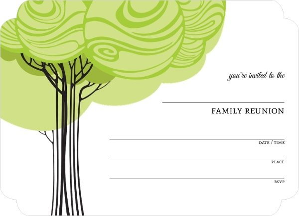 swirly family tree fill in the blank reunion invitation blank