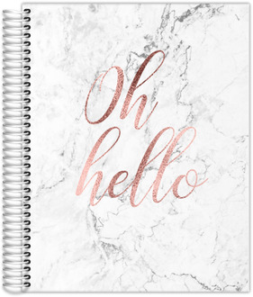 Oh Hello Faux Rose Gold Teacher Planner