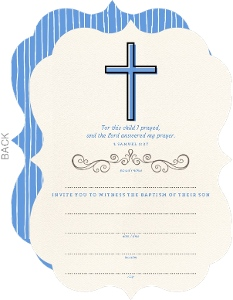 Simple Blessings Baptism Invitation