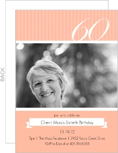 Sweet Peach 60Th Birthday Invitation