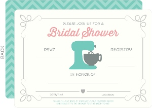 Retro Kitchen Recipe Fill In The Blank Bridal Shower Invitation