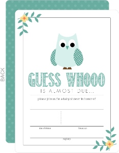 Owl baby shower invitations teal blue owl fill in the blank baby shower invitation filmwisefo