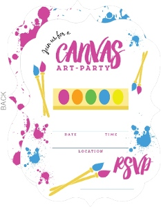 Canvas Art Kids Birthday Fill In Party Invitation