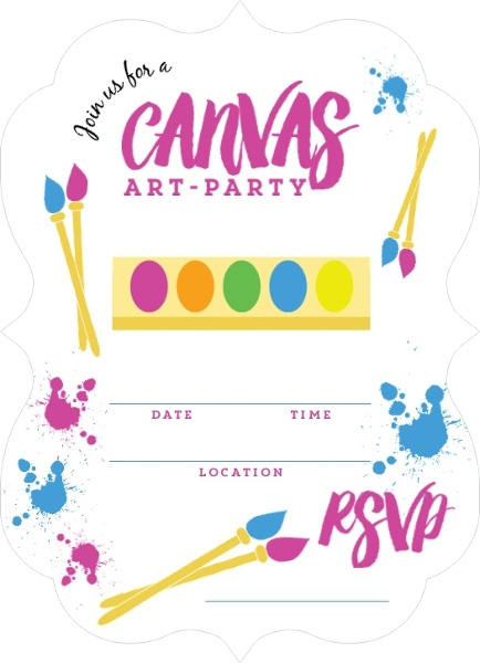 Canvas art kids birthday fill in party invitation blank canvas art kids birthday fill in party invitation stopboris