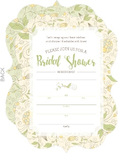 Whimsical Yellow Flower Bridal Shower Fill-in-the-blank Invitation
